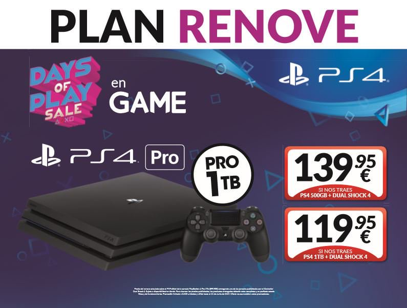 Nuevo Plan Renove De Ps4 Pro En Game Desde Solo 119 95